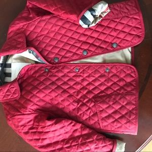 Girls' quilted Burberry jacket- Sz 3